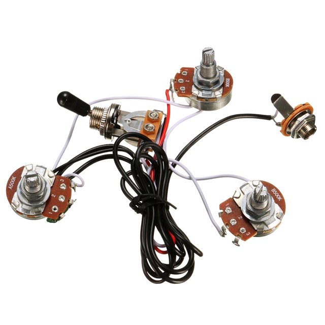 HOT Electric Guitar Parts Wiring Harness 2V1T 500K Pots Tone 3 Way Toggle Switch New_640x640 hot electric guitar parts wiring harness 2v1t 500k pots tone 3 way Three-Way Toggle Switch Wiring at alyssarenee.co