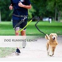 Pet Supplies Nylon Running Leads Dog Traction Belt Dog Running Leash Reflective Hands Free Dog Leash