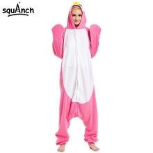 d7c12def2a1 Animal Onesie Kigurumi Pink Penguin Pajama Winter Women Sleepwear Cartoon  Cute Warm Loose Party Jumpsuit Carnival Funny Outfit
