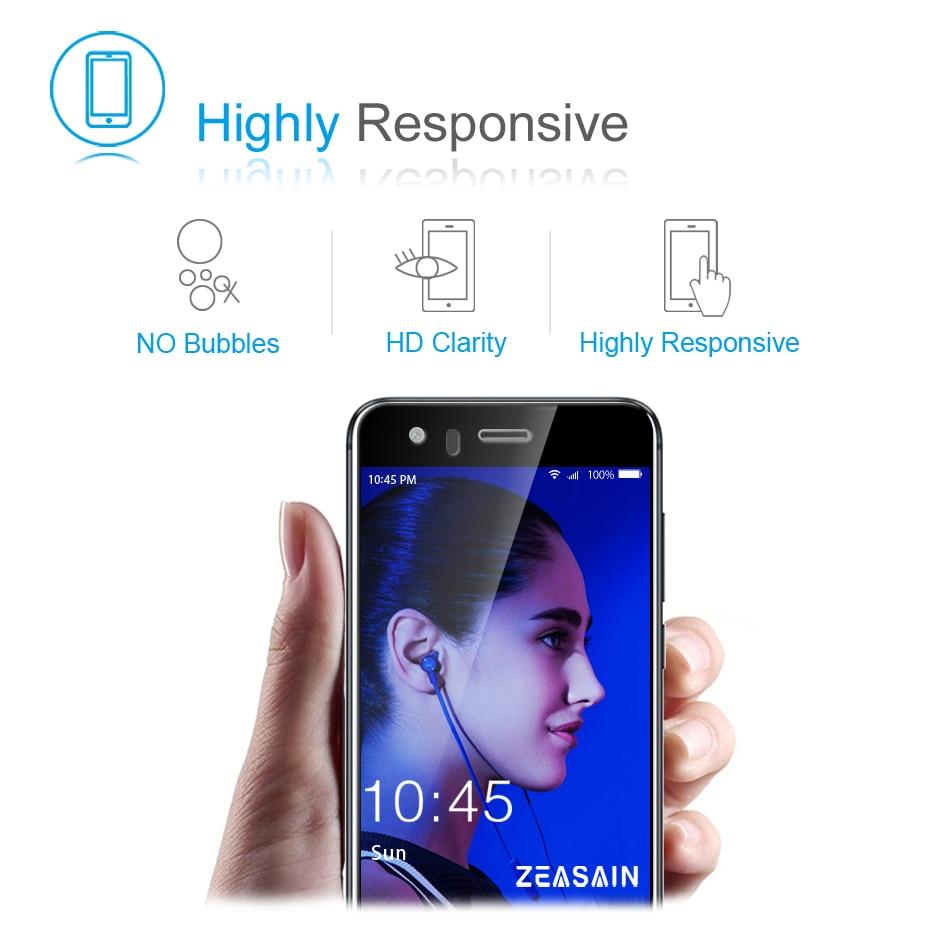 Asli ZEASAIN Penuh Penutup Pelindung Layar Kaca Tempered untuk Huawei - Aksesori dan suku cadang ponsel - Foto 4