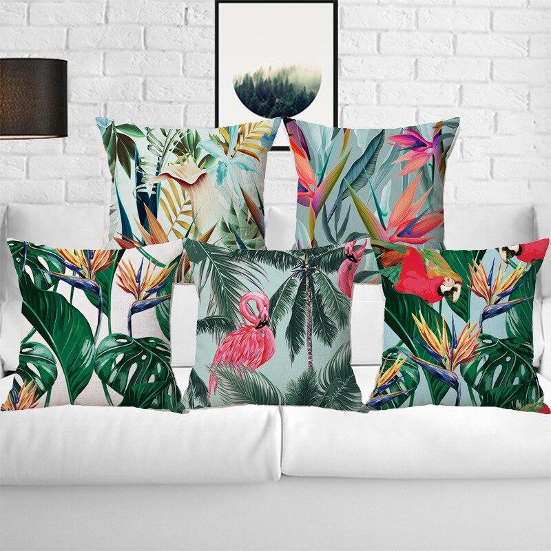 Elegantní a barevné bavlněné povlečení polštář Vintage styl květiny vzor polštář pasu hodit polštář kryt