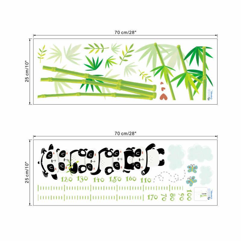 % Мультфильм Животные панда бамбук высота измерения настенные наклейки для детей комнаты спальня Рост Диаграмма настенные наклейки плакат художественная роспись