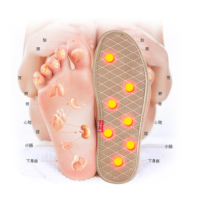 Charcoal Insole 14 Magnet Massage Foot Acupoint Magnetic Therapy Insoles Odor-proof Absorb Sweat And Breathe Freely expfoot orthotic arch support shoe pad orthopedic insoles pu insoles for shoes breathable foot pads massage sport insole 045