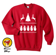 Funny Christmas elk T Shirt Santa Claus Crewneck Sweatshirt Unisex More Colors XS - 2XL