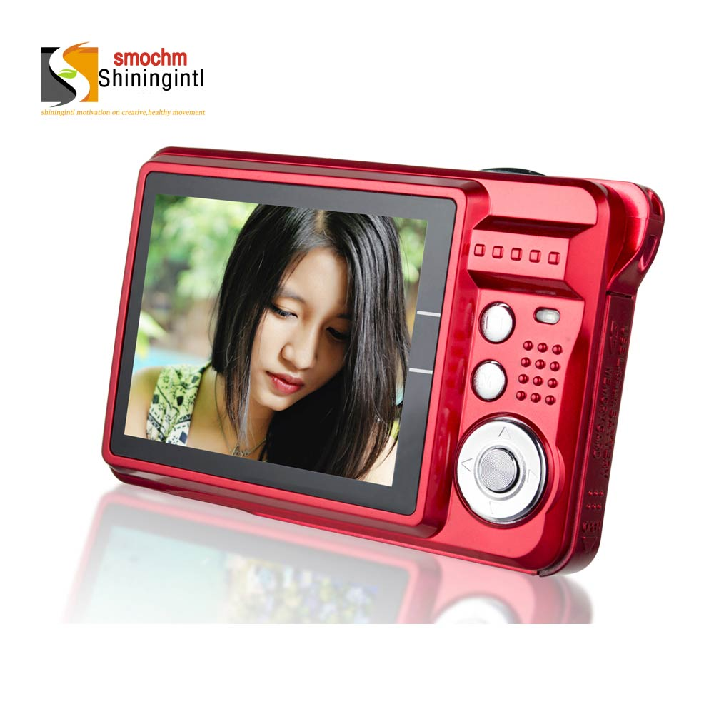 Smochm Digital Camera With 21M Pixels Protection Bag High Definition 8x Zooming Photo Video Record with JPEG 8/16/32G SD Cards(China)