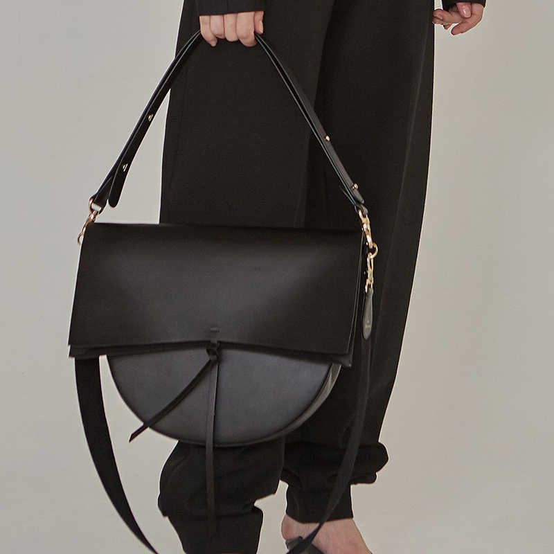 4a4fb049d04 ... Large Messenger Bag Coffee Black Color Doctor Capacity Shoulder Bag  Luxury Brand Fashion 2019 Fall Winter ...