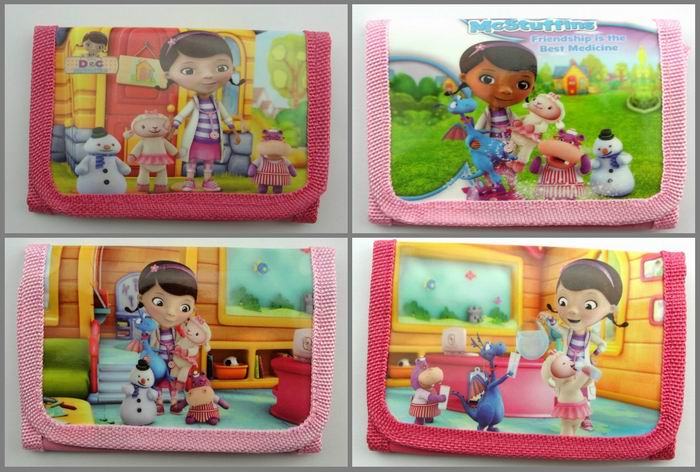 12Pcs Doc Mcstuffins Doctor Coin Purse Cute Kids Cartoon Wallet Bag Pouch Children Purse Small Wallet Party Birthday Gift