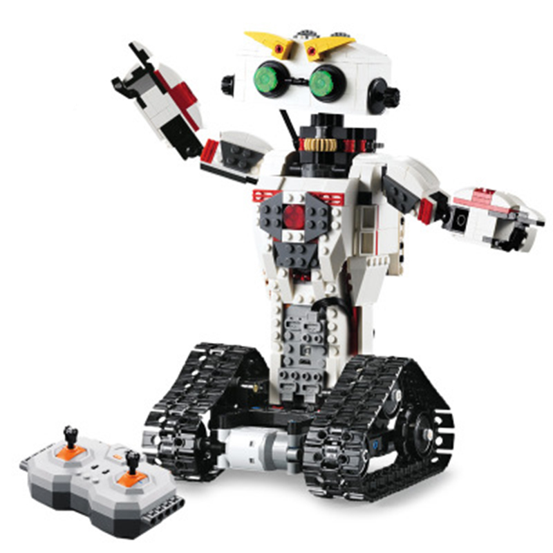 C51027 710pcs 2in1 Technic Remote Control RC Transformation Deformation Robot USB Electric Building Block jiaqi tt661 2 4g rc stunt robot remote control deformation robot