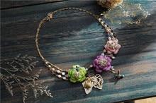 Les Nereides** Luxury Jewelry Summer Fruit Elegant Colorful Bird Flower Floral Statement Real Gold Plating Pendant Necklace 1