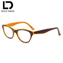 20c429e86d9 DOLCE VISION Retro Corrective Glasses Women Brand Design Prescription  Spectacles Photochromic Lady Optical Degree Glasses 2018