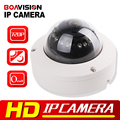 720P Mini Dome IP Camera ONVIF Outdoor H.264 IR-CUT 12Pcs Leds Night Vision Plug & Play 1.0 Mega pixel Security Camera IP 1.0MP
