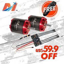 Maytech SALE electric longboard kit 170kv BLDC motor MTO6374 and double vesc with FREE remote control