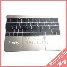 Silvery/Gold/Gray US Keyboard TrackPad Top Case Palm Rest Assembly 604-02595-02 For MacBook 12″ A1534 2015