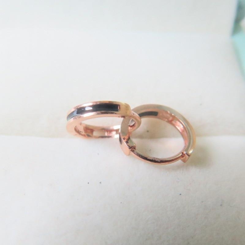 Nouveau boucles doreilles cercle porte-bonheur Au750 18 K en or Rose pour femmes 1-1.3gNouveau boucles doreilles cercle porte-bonheur Au750 18 K en or Rose pour femmes 1-1.3g