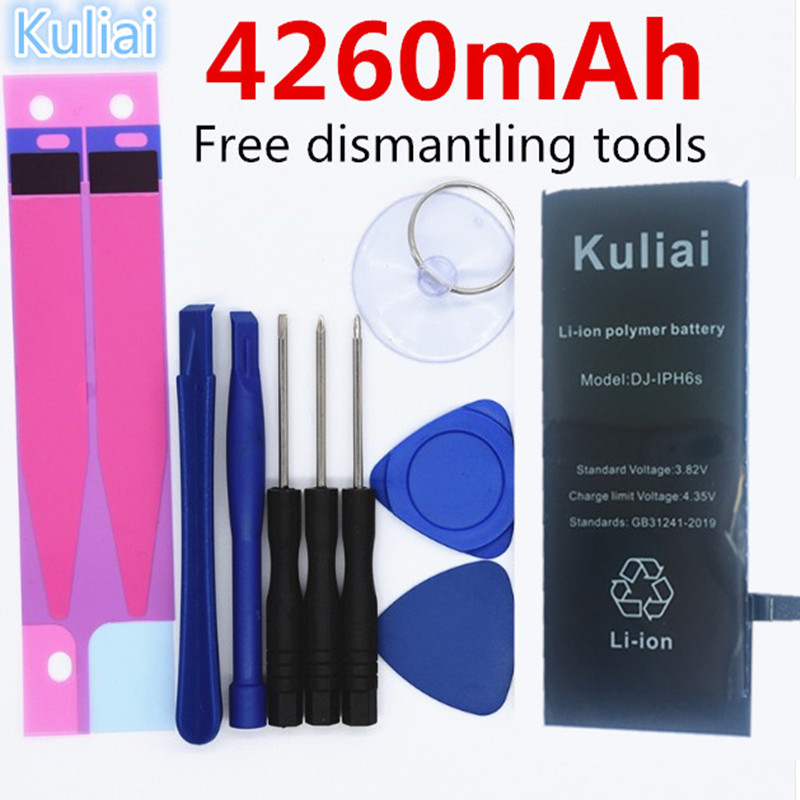 4260MAh High capacity Lithium Battery For Apple iPhone 6S 8 7 6Sp 6p Replacement Batteries Internal Phone Bateria + Free Tools-in Mobile Phone Batteries from Cellphones & Telecommunications