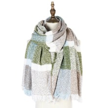 sexy shawls large stoles fashion loop yarn plaid mujer scarf wraps new jacquard winter capes mens and women