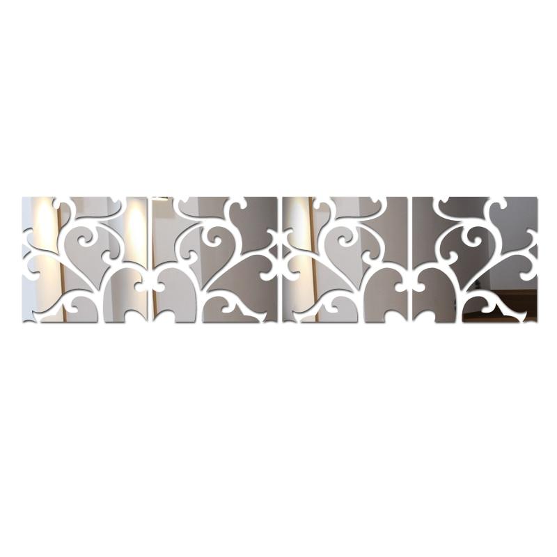 2019 hete echte diy muurstickers verkoop spiegel oppervlakte decoratie huis stilleven 3d muursticker moderne acryl spiegel promotie
