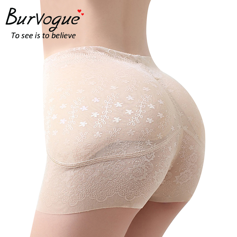 Burvogue Shaper Women Padded Underwear Butt Lifter Control Panties Body Shaper Seamless Pants Brief Shapewear Plus Size M-4XL