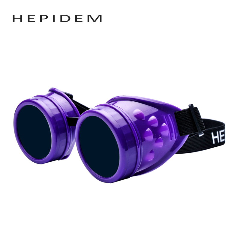 HEPIDEM 2017 New Vintage Steampunk Goggles Welding Punk Gothic Sun Glasses Cosplay Unisex Retro Victorian Style Sunglasses 810 cyber goggles steampunk glasses vintage retro welding punk gothic victorian durable goggles glasses sunglasses 2016 hot sale