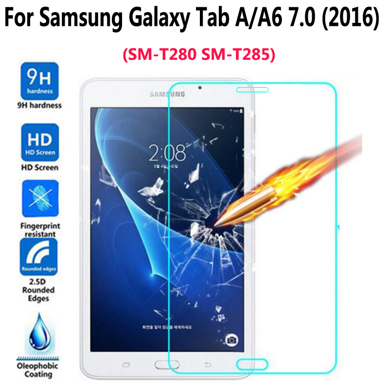 Tempered Glass for Samsung Galaxy Tab A A6 7.0 2016 T280 T285 Cover Screen Protective Film Scratchproof Tablet Screen Protector