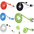 micro usb cable flat noodle sync charger data to usb for samsung galaxy note 3 s3 i9500 s4 microusb cables for sony xperia z1