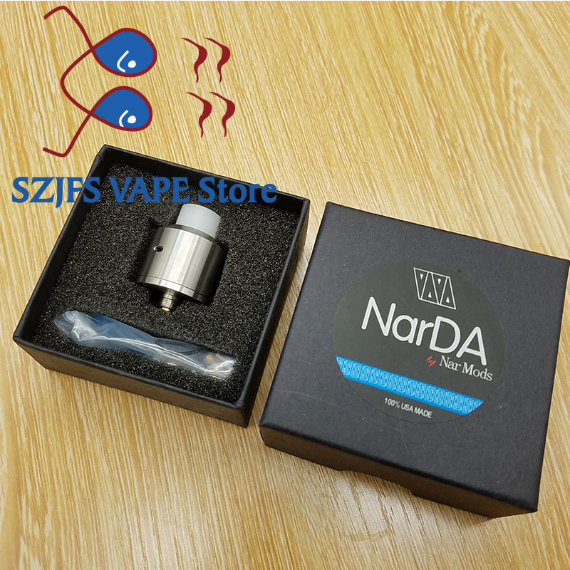 NEWEST NarDa RDA 316 Stainless Steel 22mm Diamater Rebuildable Vaporizer Tank Fit 510E Cigarette Box Mod VS Apocalypse GEN 2 RDA