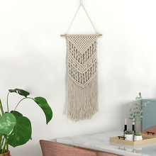 LYN&GY Hanging Bohemian Macrame Woven Handmade Tapestry Knitting Wall Tapisserie Craft Wedding Gift Home Decoration