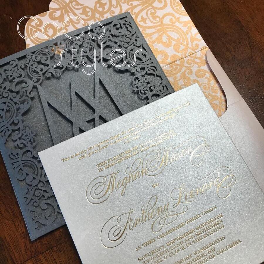 Cocostyles Personalized Graceful Laser Cut Pocket Envelope