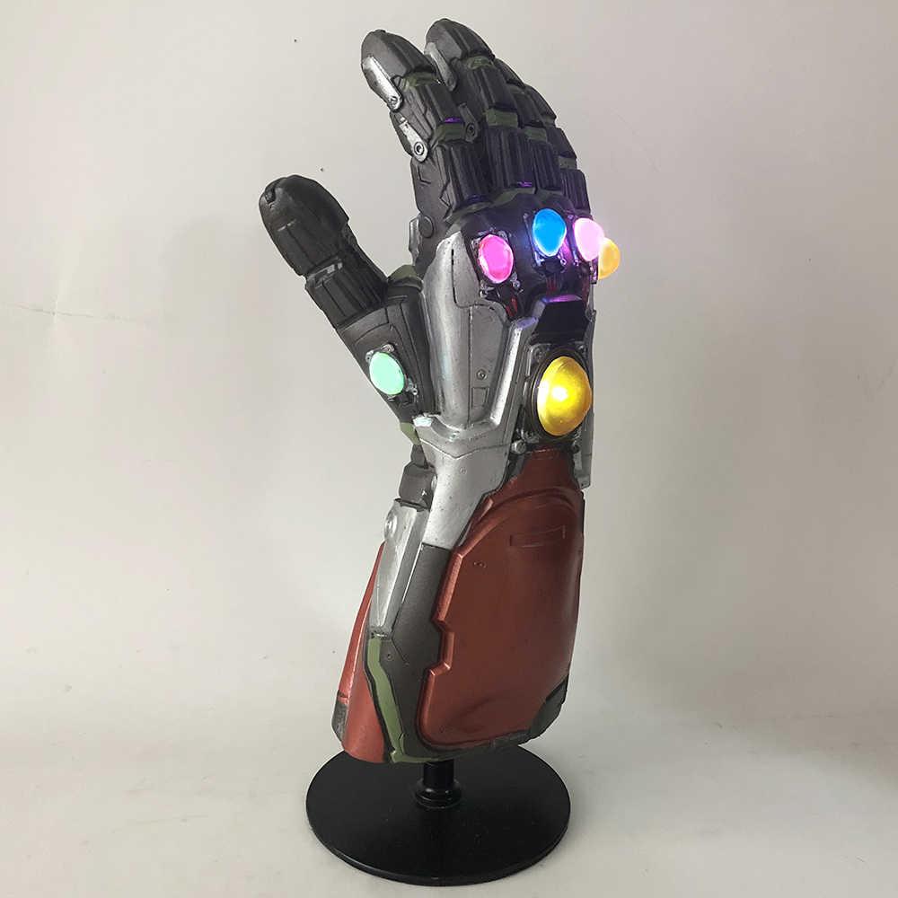 Iron Man Gauntlet With Led Thanos Infinity Gauntlet Avengers Endgame Iron Man Nano Gauntlet Armor Tony Stark Cosplay Props