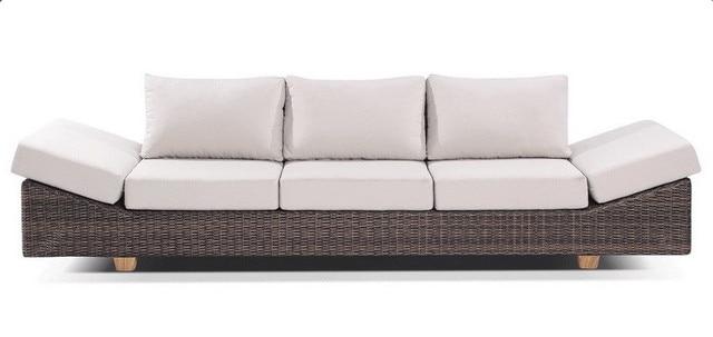 Sigma home rattan furniture 4 seater luxury outdoor lounge sofa