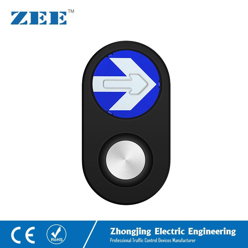 Traffic Pedestrian Push Button Pedestrian Traffic Light Button LED Traffic Button Arrow Board Black Housing