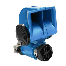 Auto Twin Dual Tone Compact Air Loud Horn 12V 150dB Compressor Truck Car Bus Van(China)