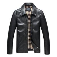 JAYDENROSE New Motorcycle Jacket Mens Fashion Casual Jacket Slim Models Leather Coat