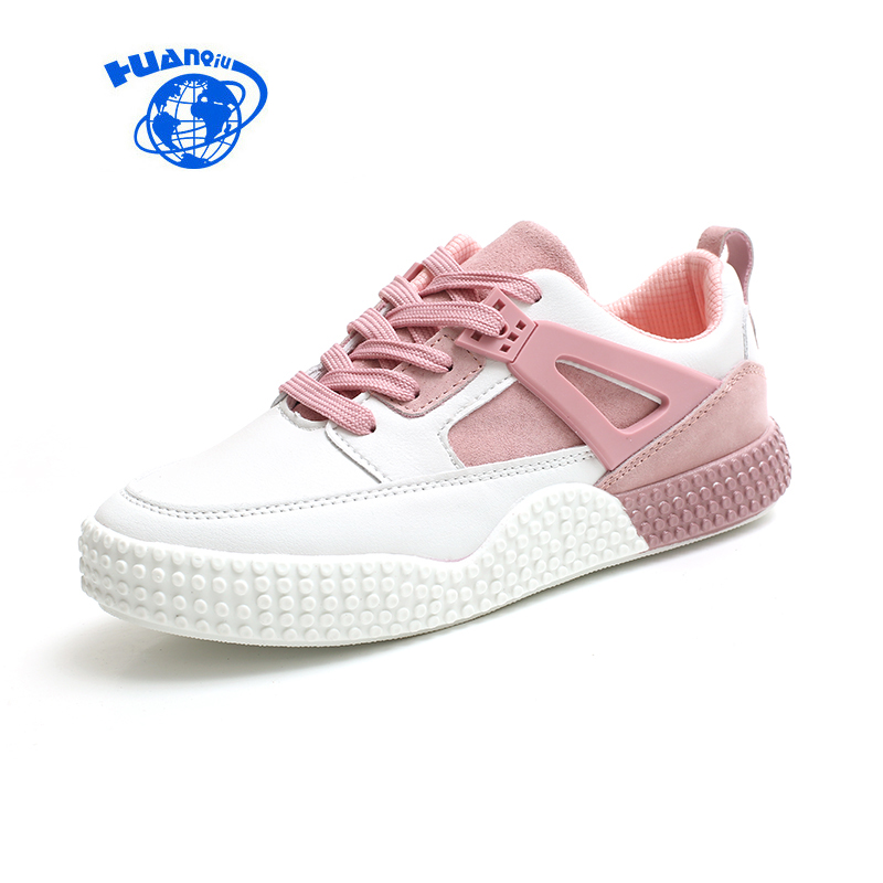 HUANQIU 2017 New Women Pink Sneakers High Quality Female Gray Shoes Mixed Colors Zapatillas Mujer Casual Chaussure Femme #35-39
