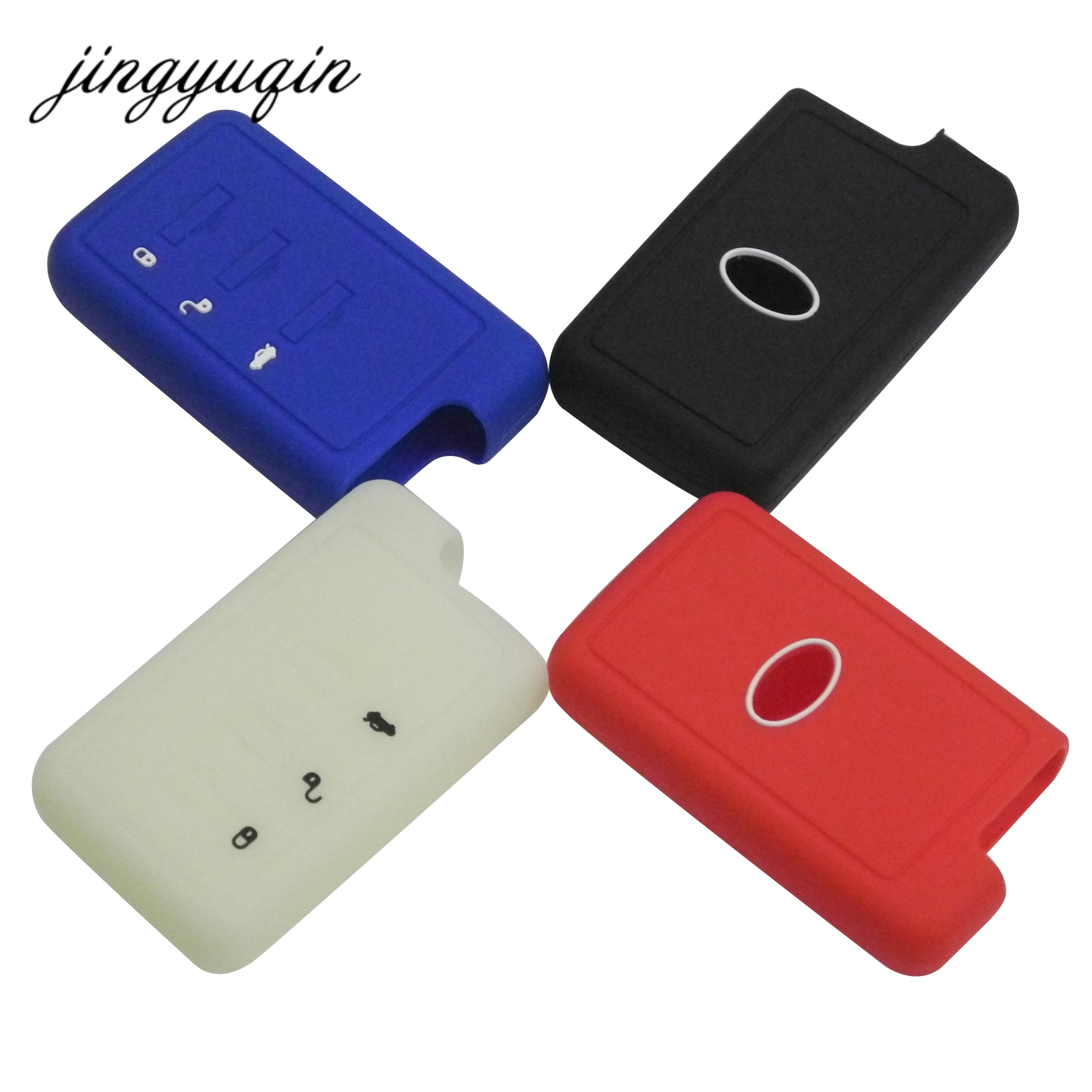 Jingyuqin Silicone Car Key Cover For Subaru XV Forester Outback Legacy Impreza Mrxsti 3 Button Remote Smart Key Case Holder