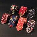 Trajes Estampado floral Vintage de Los Hombres Clásicos Corbata Para Hombre de Poliéster Flaco Gravatas Corbata Corbata Corbata Formal de la Boda