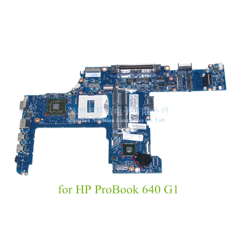 NOKOTION 744010-601 744010-001 For HP ProBook 640 G1 Laptop motherboard 14 Inch Radeon HD 8750M Intel GMA HD 4400 DDR3L nokotion sps v000198120 for toshiba satellite a500 a505 motherboard intel gm45 ddr2 6050a2323101 mb a01