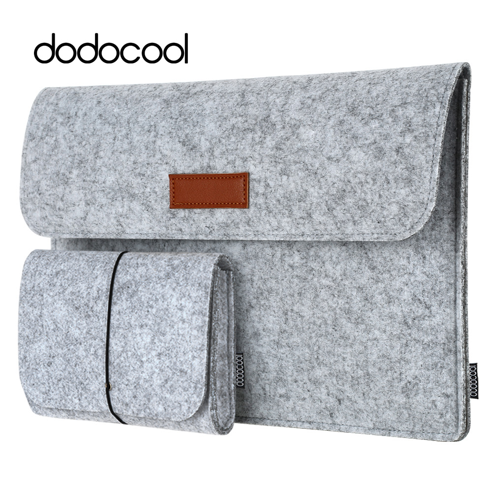 dodocool 12 13 laptop Bag Case for macbook air 13 macbook pro 13 Case Laptop Sleeve Cover Case 4 Compartments with Mouse Pouch jisoncase laptop sleeve case for macbook air 13 12 11 case genuine leather laptop bag unisex pouch for macbook pro 13 inch cover