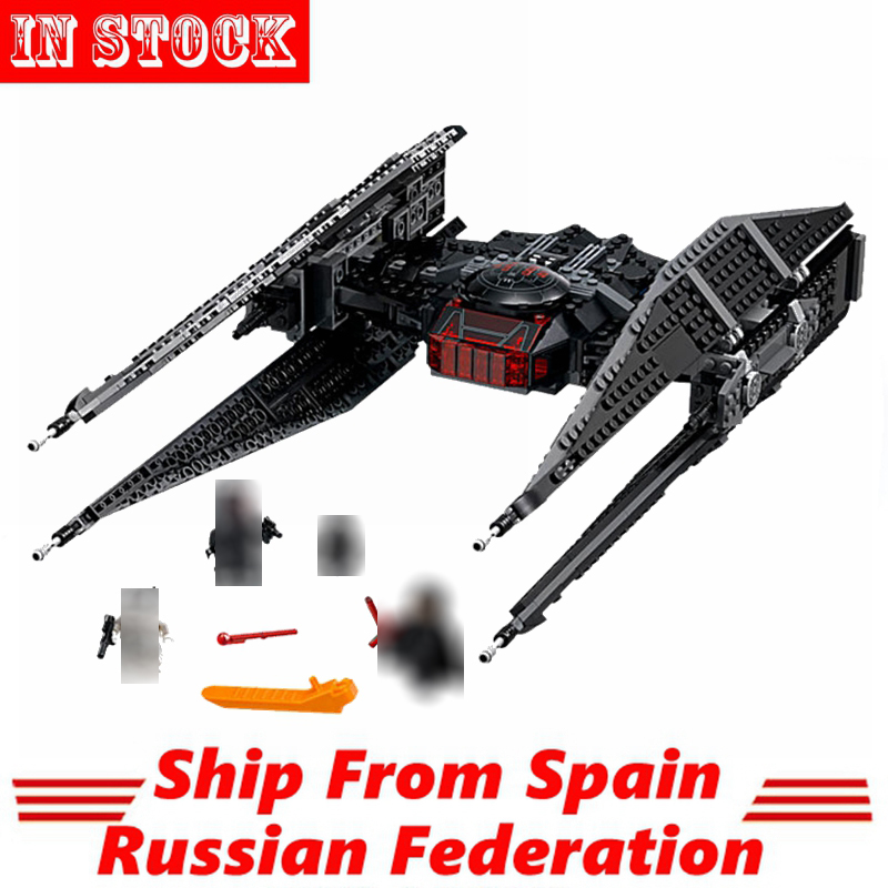 Compatible Starwars Star Plan Ren Tie Fighter Space Wars First Order Starship Sets 705Pcs Block Toy
