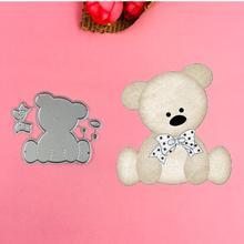 Cute Bear Metal Cut Dies Stencils for Scrapbooking Stamp/photo album Decorative Embossing DIY Paper Cards