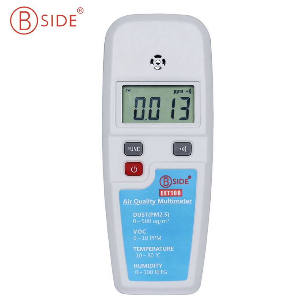 BSIDE EET100 LCD Air Quality Multimeter Dust VOC Temperature Humidity Meter Atmosphere Environment Detector Air Analyzer Safety digital indoor air quality carbon dioxide meter temperature rh humidity twa stel display 99 points made in taiwan co2 monitor