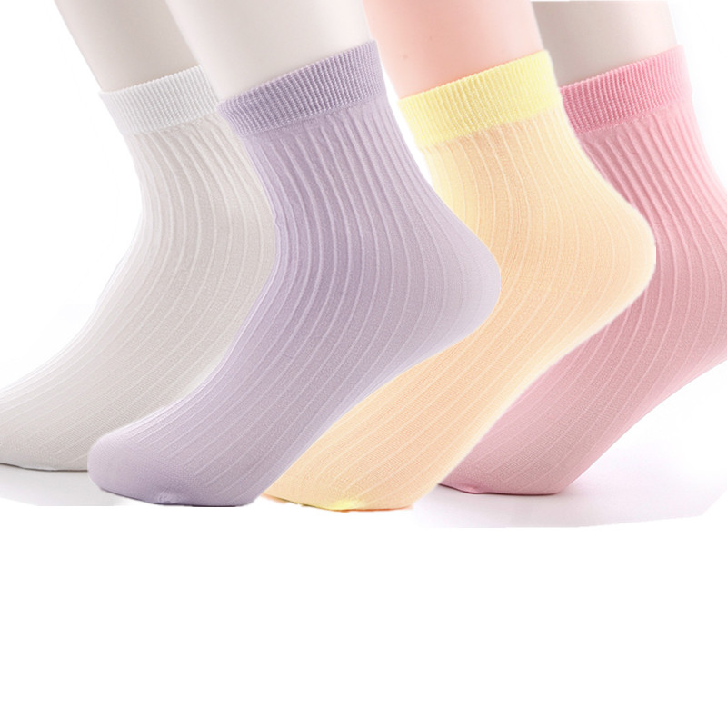 Spring White Kid Socks 10Pairs/Lot Baby Style Solid Thin Soft  Children For Boys Girls Sport Students Socks