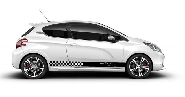 car styling for 2x peugeot side skirt vinyl body decal sticker
