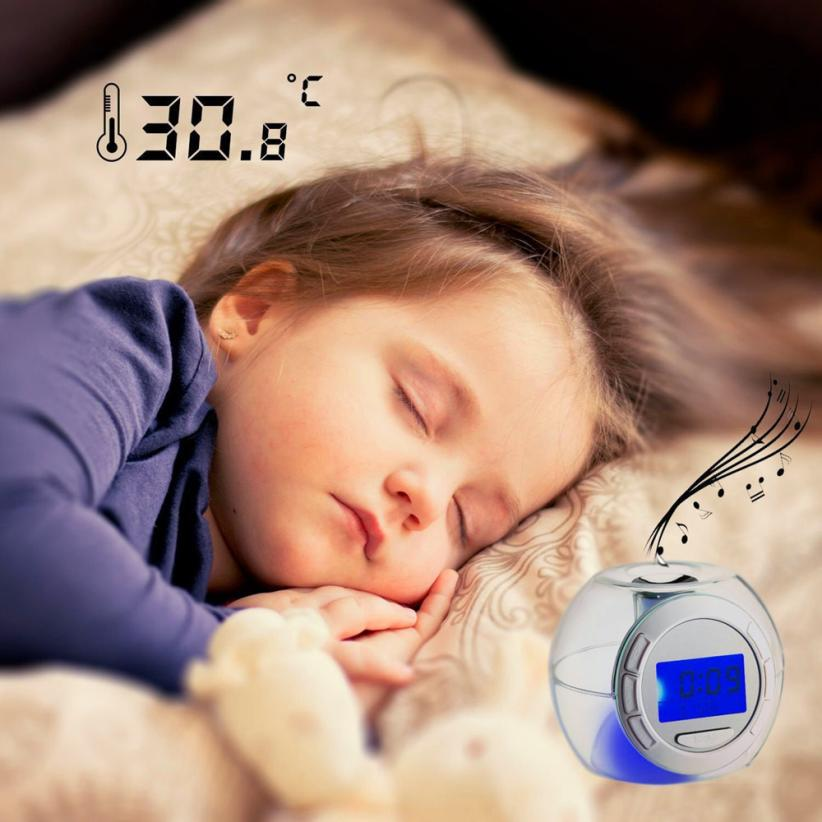 2018 Wake Up Light Clock For Kids Child Toddler Adults 7 Colors Changing Alarm Clock M23