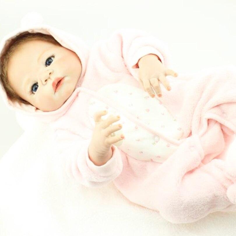 55cm Tam Bədən Silikon Yenidoğulmuş Qız Qız Doll Oyuncaq - Kuklalar və kuklalar üçün aksesuarlar - Fotoqrafiya 5