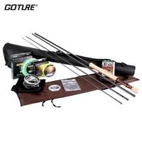 Goture нахлыстом 2,7 М 3,0 М удочка Combo 5/6 7/8 ЧПУ муха катушка для рыбалки линии с 16 шт. Fly Мухи Рыбалка
