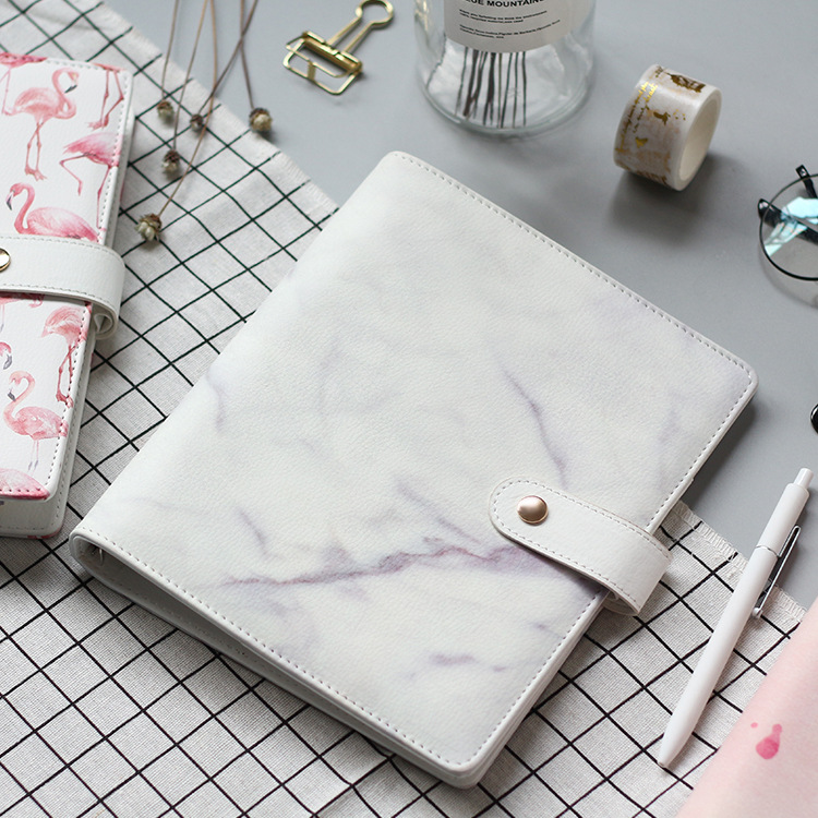 A5 Marble And Flamingo PU Cover Spiral Notebook 18*23cm DIY Diary Journal Supply 1 PieceA5 Marble And Flamingo PU Cover Spiral Notebook 18*23cm DIY Diary Journal Supply 1 Piece