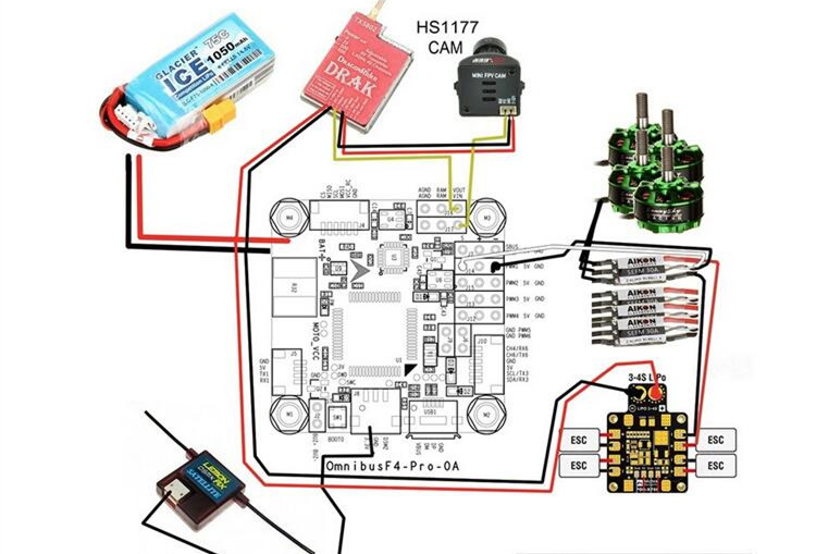 OMNIBUS-Betaflight-F4-V2-PRO-Flight-Controller-Board-w-Baro-Built-in-OSD-With-Power-Supply (2)