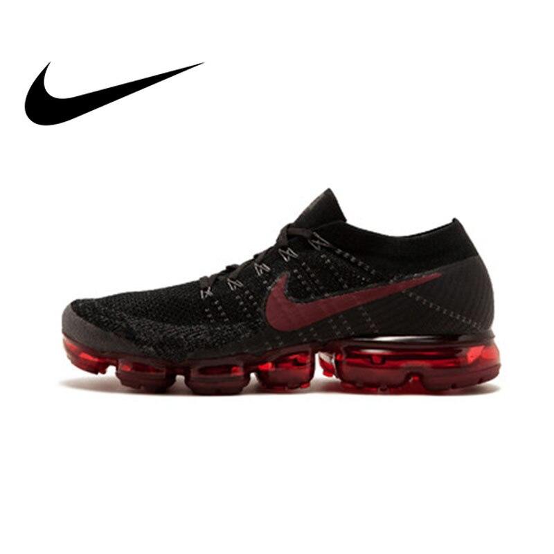 Original oficial Nike aire VaporMax cierto Flyknit hombre transpirable de los hombres zapatos al aire libre de deportes zapatillas de deporte bajo superior Athletic