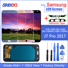 For Galaxy J7 2017 Touch Screen J730 J730f Lcd For Samsung J7 Pro Display Digitizer Assembly Adjustable With Adhesive Tools j7 pro lcd screen replacement for samsung galaxy j7 2017 touch screen j730 j730f lcd display digitizer assembly with adhesive to